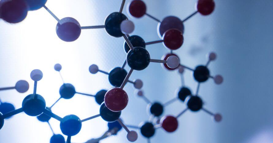 Science Molecular DNA Structure, business communication connection concept